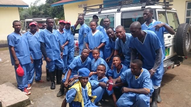 Staff of the Ebola burial team are a bit relieve because the number of daily burials have reduced. Photo Credit: Alpha Kamara