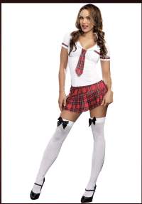 Naughty School Girl Outfit by PartyZoneUSA.com