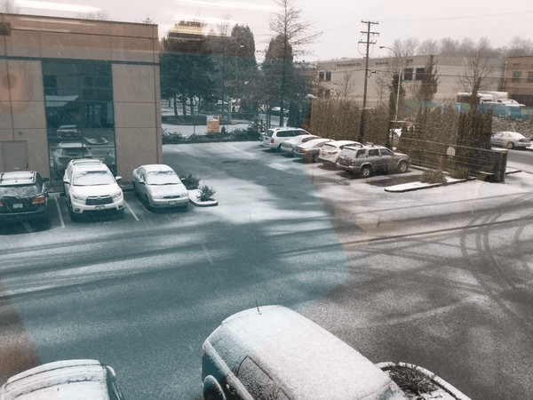 First Snow Vancouver 2015