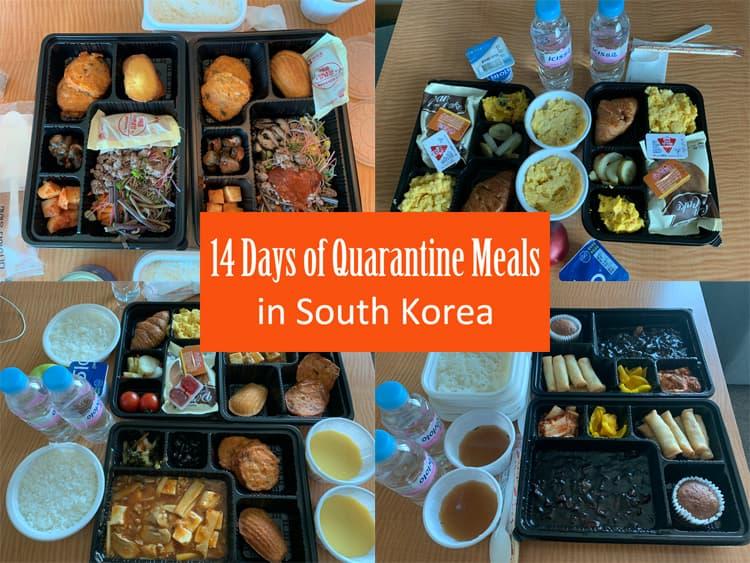 14 Days of Coronavirus Quarantine Meals in South Korea