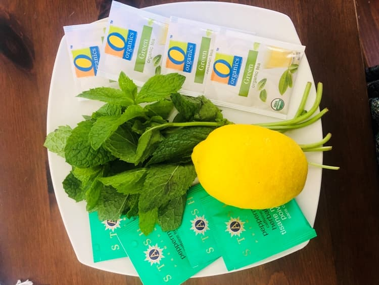 Photo Credit: Mint Lemon Iced Tea Ingredients, by Carrie Borzillo