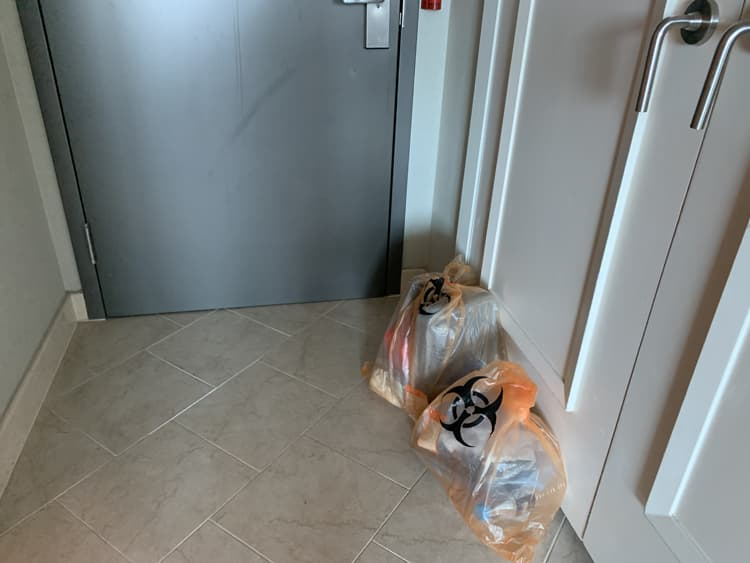 Photo Credit: Orange biohazard waste bags, @tiffany.ironfan's Instagram