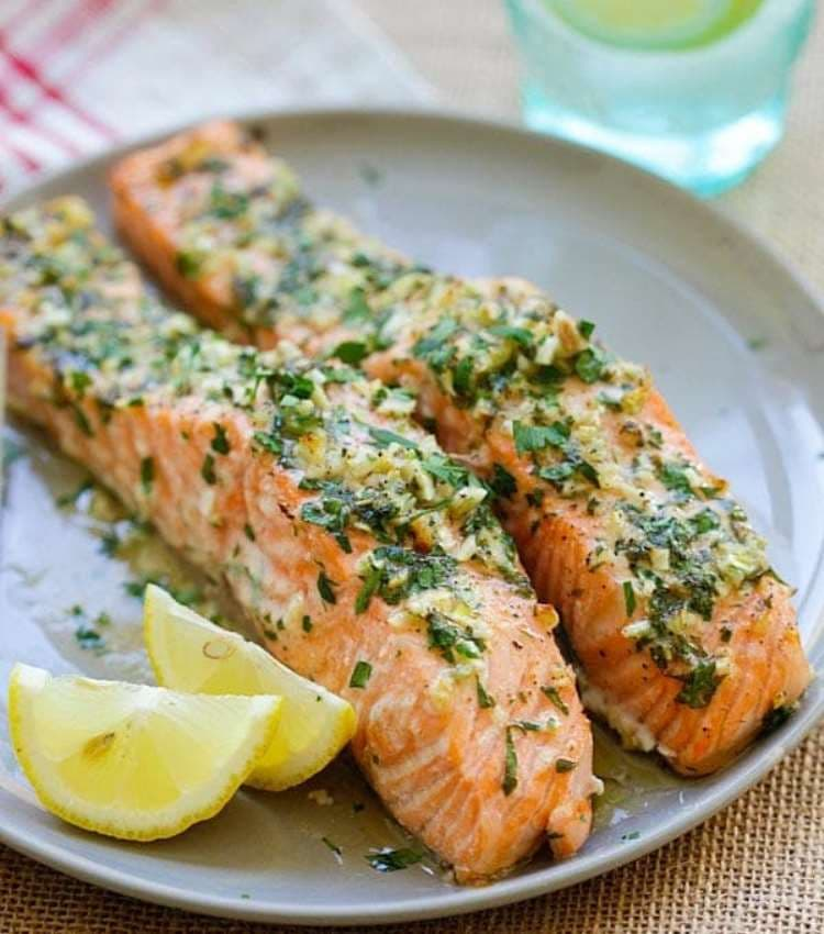 "Get the recipe for this garlic herb roasted salmon at <a href=""https://rasamalaysia.com/garlic-herb-roasted-salmon/"" target=""_blank"" rel=""nofollow"">Rasa Malaysia</a>. Photo: Rasa Malaysia."
